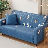 XFBN Antideslizante Funda Elástica para Sofá 1 Pieza Protector para sofá Plegable Cama sin reposabrazos Modernofundas Decorativas para sofás 1 2 3 4 Plazas(Size:4 Seater,Color:Style 11)