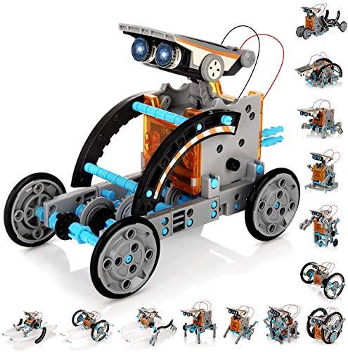Winique Solar Robots,14-in-1 STEM Educational Solar Robots,190 Pieces Solar...