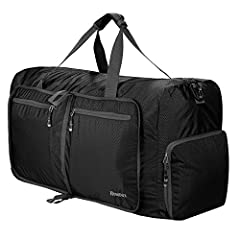 ✔ High Quality - Duffle bag made by Honeycomb RipStop fabric that resists wear and tear; high quality zippers with pull string will not break on you. Super lightweight and durable. ✔ Large Capacity and Easy to Store - 80L Foldable lightweight duffle ...