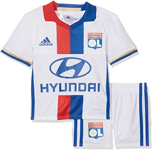 adidas Kinder Olympique Lyon Mini-heimausrüstung, Jacke: White/Collegiate Royal/Red S09 Hose: White/Collegiate Royal, 104