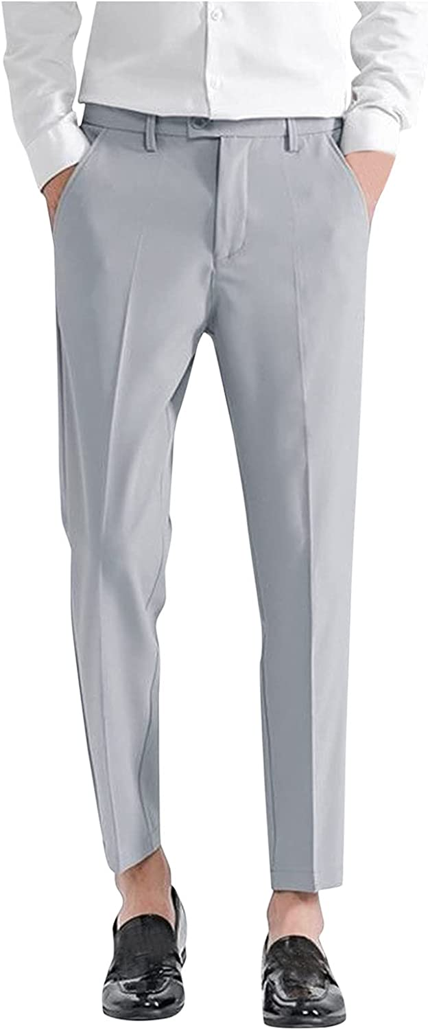 Mens Slim At the price Fit Dress Pants Classic Pant Front Chino Wrinkle Free discount