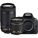 Nikon D5600 24.2MP DSLR Camera with 18-55mm VR and 70-300mm Dual Lens (Black) – (Renewed) (18-55mm VR & 70-300mm 2 Lens Kit)