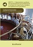 Operaciones auxiliares de mantenimiento de instalaciones y manejo de maquinaria y equipos en explotaciones ganaderas. AGAX0108 - Actividades auxiliares en ganadería