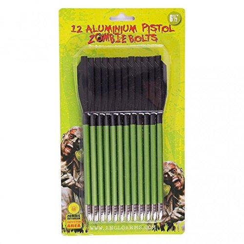 BKL1® 48 Stück Aluminiumpfeile Bolzen Pistolenarmbrust Zombiegrün Armbrust Bogensport