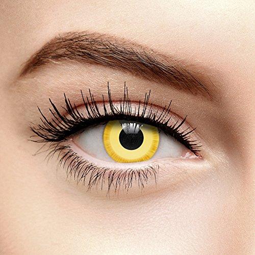 Chromaview Avatar Farbige Kontaktlinsen Ohne Stärke Gelb (30 Tage)
