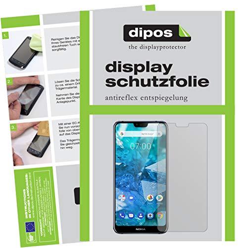 dipos I 6X Pellicola Protettiva antiriflesso Compatibile con Nokia 7.1 Plus Pellicola di Protezione