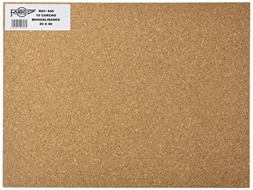 Faibo 606 - Plancha de corcho, 10 unidades