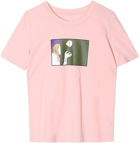 WJP Shirt à Manches Courtes à Manches Courtes et col Rond