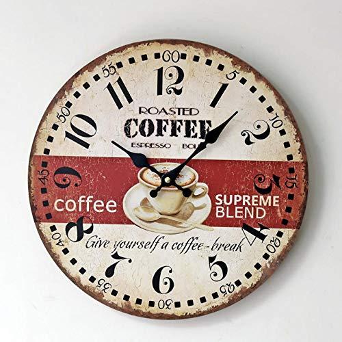 Anytumep Nueva Taza de café Diseño de vajilla de Vino Reloj de Pared Relogio De Parede Gran Sala de Estar silenciosa Saat Decoración del hogar Reloj Regalo de Pared