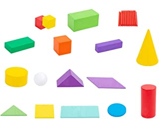 Large Geosolids Solid Shapes,Exercise children's imagination and hand eye coordination,Mini Geometric Shapes teaching aids