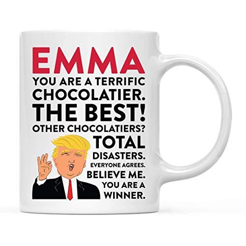 Regalo personalizado divertido de la taza del té del café del presidente Donald Trump, usted es un chocolatero estupendo, paquete de 1, compañero de trabajo personalizado amigo él ella, caja de regalo