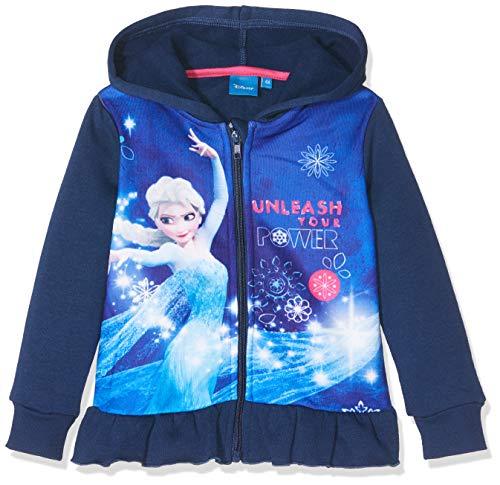 Disney Frozen Mädchen HS1458 Sweatshirt, Blau Navy, 4 Jahre