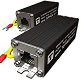 Ethernet Surge Protector (2 Pack) PoE+ Gigabit - Gas Discharge Tube for Full...
