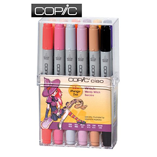 COPIC 22075713 Ciao Filzstift-Set, 12-teilig, Design Hexe