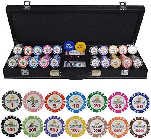 Texas Hold'em Poker Conjuntos con Estuche de Cuero PU / Caja / Maleta Gold Crown Poker Chip Clay Clasino Chips...