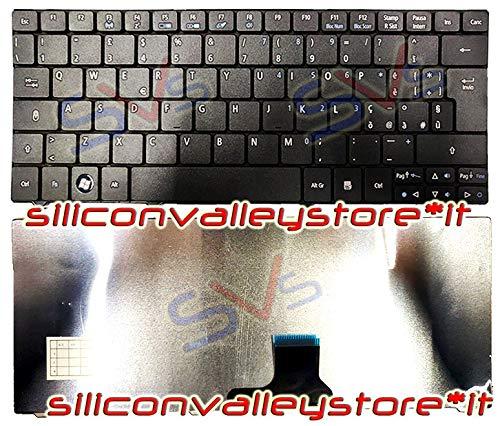 Siliconvalleystore Tastiera ZA5 Italiana per Notebook Acer Aspire One 722 752 Compatibile ZA3 Nera