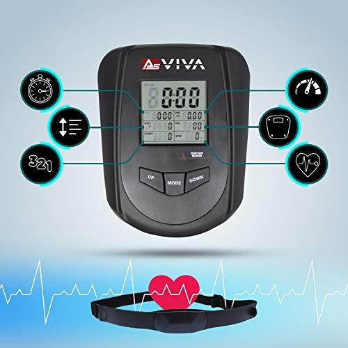 AsVIVA RA11 rameur ergomètre Rower Cardio avec 8 niveaux de résistance manuelle et console...