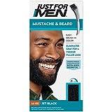 Just For Men Brush-in Color Gel for Mustache & Beard, Jet Black M-60 1 ea