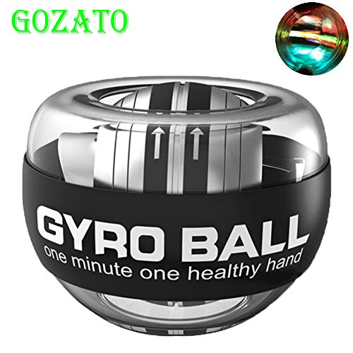 GOZATO Wrist Trainer Ball Auto-Start Excerises Arm Strengthener Essential Gyroscopic Wrist and Forearm Exerciser Wrist Ball for Stronger Muscle and Bones Workout