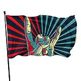 LZHANDA Garten Flaggen Flagge Fahne, Garden Flag Hand in Rock Outdoor Yard Flag Wall Lawn Banner Home Flag Decoration 3' X 5'