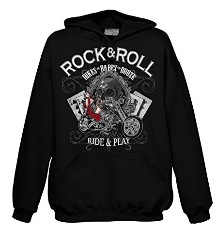 Rock Style Bikes - Babes - Booze 701917 Hood 001 2XL