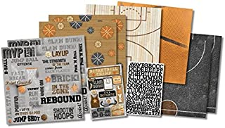Karen Foster Scrapbook Page Kit, 12 by 12-Inch, Basketball Champ