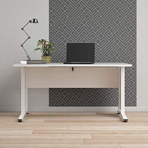 Tvilum Prima Schreibtisch 150x80cm Bürotisch Arbeitstisch Tisch Weiß Gestell Weiß