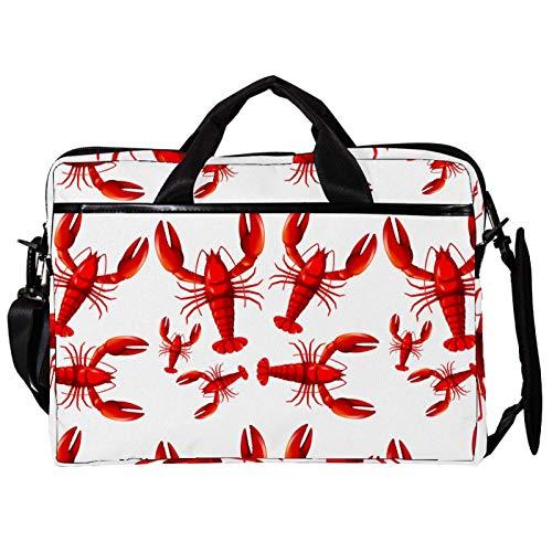 Red Lobster 15 inch Laptop Sleeve case Protective Bag, ultrabook Notebook Carrying case Handbag Shoulder Messenger Bag for MacBook Pro, MacBook Air