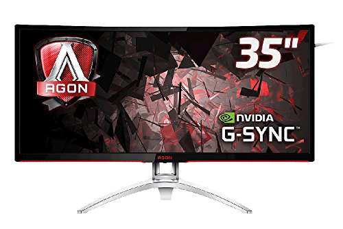 AOC Monitores AG352UCG - Monitor de 35' (resolución 3440 x 1440 Pixels, tecnología WLED, Contraste 2000:1, 4 ms, HDMI), Color Plata y Negro