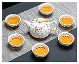Bewitched ZHANGHANG Blue Bianco Squisita teiera in Ceramica Kettles Tazza di tè Porcellana Porcellana Cinese Kung Fu Set da tè Drinkware (Color : 1 Pot 6 Cups C)
