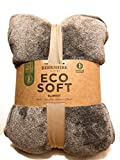 King Gray Grey Berkshire Life Eco Soft Blanket 112 by 92 inches