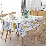 SONGHJ Manteles Impermeables de PVC Planta Pastoral Mantel Sala de Estar Mantel de plástico Mantel Decoración para el hogar A 135x200cm