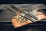 zayiko Kuro Damastmesser Nakirimesser, Klinge 18,00 cm Länge - sehr hochwertiges sehr scharfes Profi Nakirimesser mit Damastklinge und Pakkaholzgriff, Küchenmesser, Kochmesser - 4