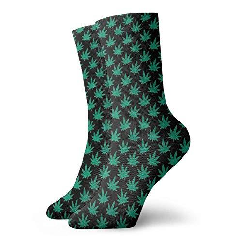 ames Calcetines Unisex Green Cannabis Sativa Fashion Novedad Calcetines Deportivos Secos