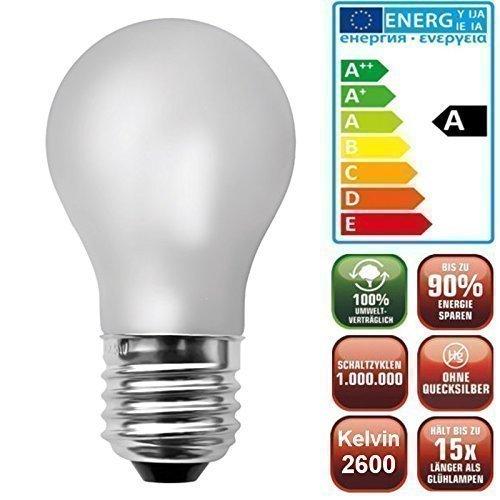 Ampoule sphérique 80 LED basse consommation à intensité variable claire et mate E27 4,1 W Blanc chaud