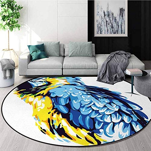 Why Should You Buy DESPKON-HOME Animal Super Soft Circle Rugs for Girls,Painting Style Parrot Profil...