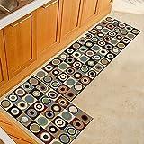 HLXX Alfombra vintage para piso de cocina, baño, entrada, dormitorio, sala de estar, mesilla de noche, alfombra antideslizante, lavable, tamaño A4, 40 x 60 cm, 40 x 120 cm