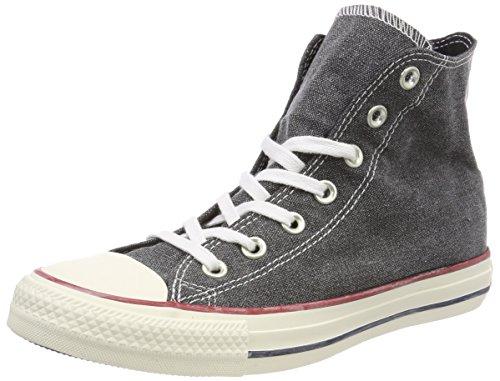 Converse Chuck Taylor CTAS Hi Cotton, Zapatillas de Deporte Unisex Adulto, Negro (Black/Black/White 001), 39.5 EU