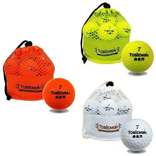 TOBIEMON(トビエモン) ゴルフボール 公認球 2ピース 3色セット メッシュバック入り