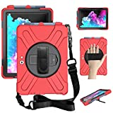 ZenRich Surface Go 2 Case 2020, zenrich Surface Go Case 2018 with Pen Holder Heavy Duty Shockproof Rugged Case with Stand Hand Strap and Shoulder Belt for Surface Go 2 2020 / Surface Go 10' 2018-Red