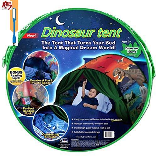 Meister der Familie – Europa Traumzelt Bettzelt Kinder Zelt Kinderzelt Indoor Zelt Weihnachtsgeschenk für Kinder (Dinosaurier)