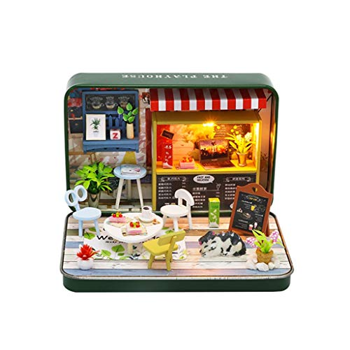 Gpure Casa de Muñecos Caja de Lat DIY 3D Juegos De Construcción con Muebles y Accesorios para Niños Niña Teatro Vivo Juguetes Maqueta De Fiesta Divertido Regalos De Cumpleaños Adornes