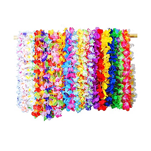 Not Application Hawaii Guirnalda de 36 Colores Coloridas Flores Hawaianas guirnaldas de Flores Tropicales Decoraciones de guirnaldas de Playa para Fiestas al Aire Libre