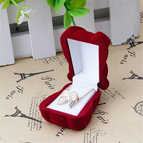 JIUZUI - Estuche para anillo de boda, collar y pendientes, caja de...