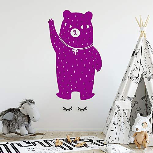 xingbuxin Creativo Oso Autoadhesivo Vinilo Impermeable Pared Arte calcomanía para Habitaciones de niños decoración del hogar Mural Cartel 5 XL 57 cm x 95 cm
