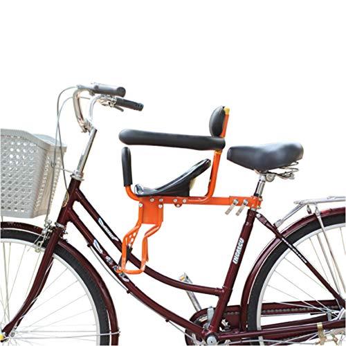 JT Bicicletta Anteriore Seggiolino Bambino Sedili Doppio Punto Fisso Tutto Tondo Stile Pieghevole Quick Release,B,34X45CM
