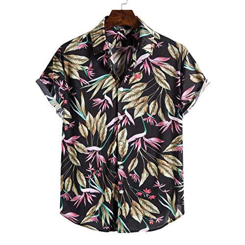 Camisas de Manga Corta para Hombres con Estampado Personalizado, Suaves, Ligeras, Transpirables, fáciles de cuidar, Camisas de Playa con Tendencia a la Moda Medium