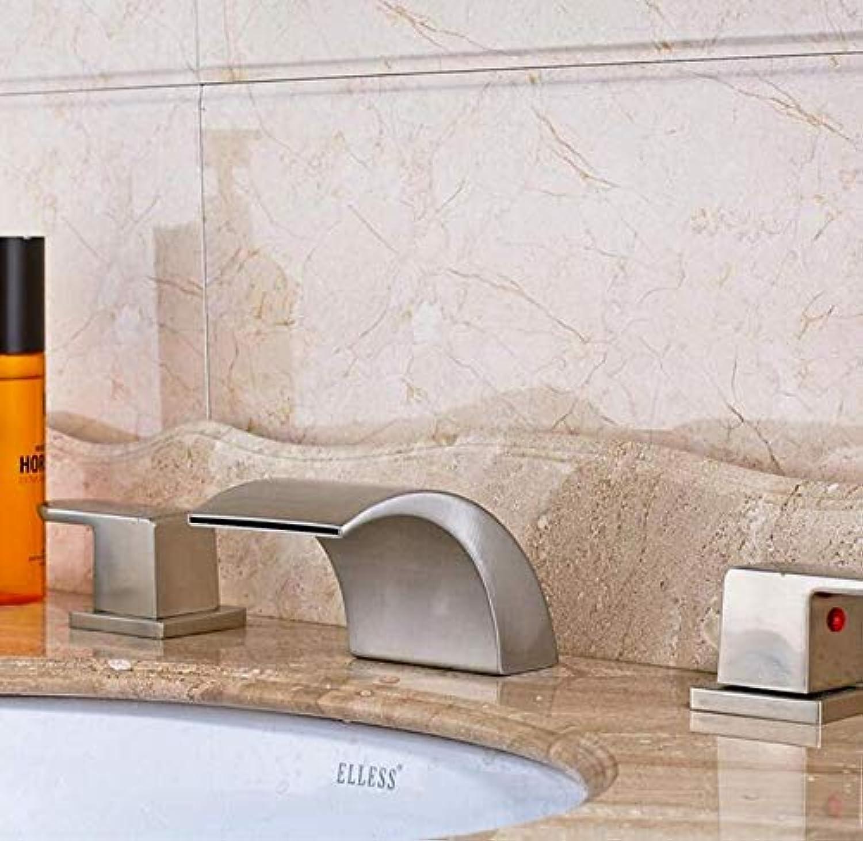 Mit Ausziehbarem Schlauch, Horizontaler Stange, Küchenarmatur Wasserhahn Wasserfall Dual Griff Weit Verbreitet Armaturen Nickel Gebürstet