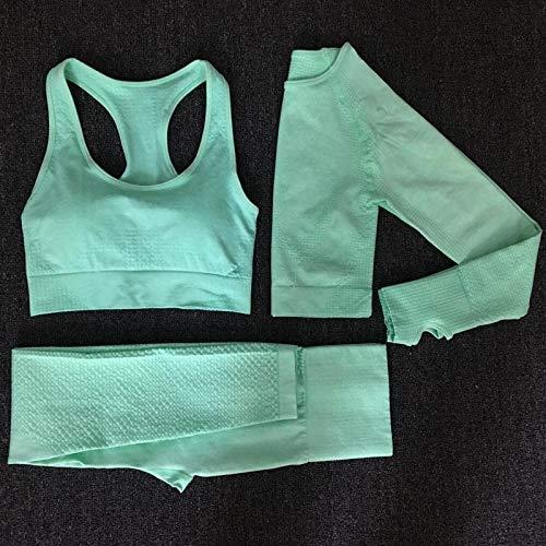2020 Vrouwen Naadloze yoga set Fitness Sports Suits GYM Doek Yoga met lange mouwen hoge taille Running Leggings Workout kleding