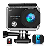 VanTop Moment 3 4K Action Camera w/ Gopro Compatible Carrying Case, microSD Card